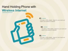 Hand Holding Phone With Wireless Internet