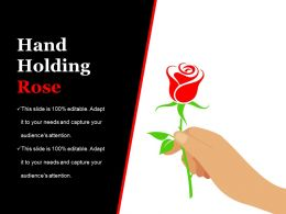 Hand Holding Rose Ppt Infographic Template