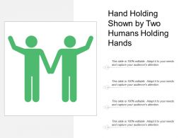 Hand Holding Shown By Two Humans Holding Hands