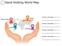 Hand Holding World Map Ppt Background Images