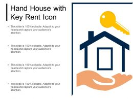 Hand House With Key Rent Icon