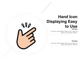Hand Icon Displaying Easy To Use