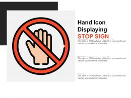 Hand Icon Displaying Stop Sign