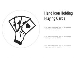 Hand Icon Holding Playing Cards