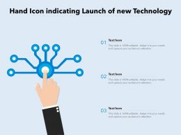 Hand Icon Indicating Launch Of New Technology