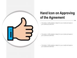 Hand Icon On Approving Of The Agreement