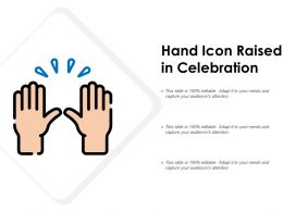 Hand Icon Raised In Celebration