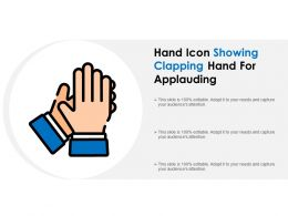 Hand Icon Showing Clapping Hand For Applauding
