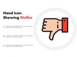 Hand Icon Showing Dislike