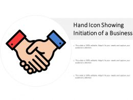 Hand Icon Showing Initiation Of A Business