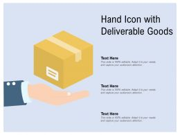 Hand Icon With Deliverable Goods