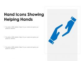 Hand Icons Showing Helping Hands