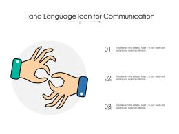 Hand Language Icon For Communication