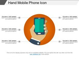 Hand Mobile Phone Icon