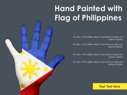 Hand Painted With Flag Of Philippines