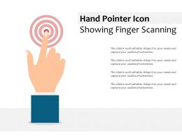 Hand Pointer Icon Showing Finger Scanning