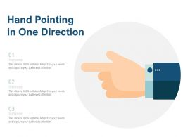 Hand Pointing In One Direction