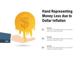 Hand Representing Money Loss Due To Dollar Inflation