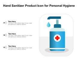 Hand Sanitizer Product Icon For Personal Hygiene
