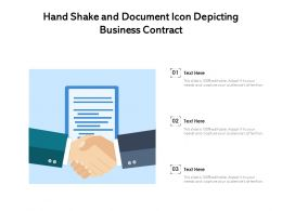 Hand Shake And Document Icon Depicting Business Contract