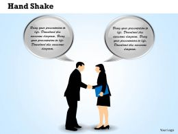 Hand Shake Powerpoint Template Slide
