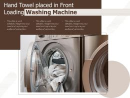Hand Towel Placed In Front Loading Washing Machine