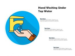 Hand Washing Under Tap Water