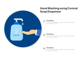 Hand Washing Using Conical Soap Dispenser
