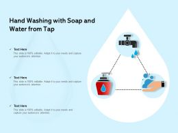 Hand Washing With Soap And Water From Tap