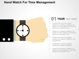 Hand Watch For Time Management Flat Powerpoint Design