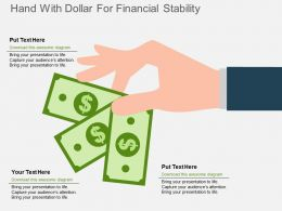 hand_with_dollar_for_financial_stability_flat_powerpoint_design_Slide01