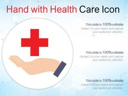 Hand With Health Care Icon