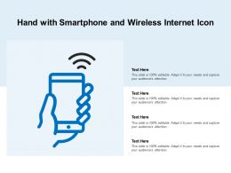 Hand With Smartphone And Wireless Internet Icon