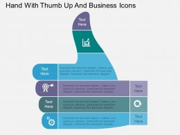 Hand With Thumb Up And Business Icons Flat Powerpoint Design