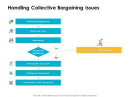 Handling Collective Bargaining Issues Ppt Powerpoint Presentation Layouts