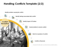 Handling Conflicts Associated Ppt Powerpoint Presentation Layouts