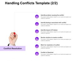 Handling Conflicts Resolution Ppt Powerpoint Presentation Infographics Graphic Tips