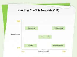 Handling Conflicts Template Cooperativeness Ppt Powerpoint Presentation Inspiration