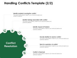 Handling Conflicts Template Resolution Ppt Powerpoint Presentation Ideas