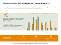 Handling Customer Churn By Improving Customer Experience Churn Ppt Powerpoint Presentation File