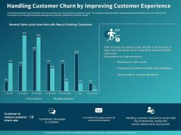 Handling Customer Churn By Improving Customer Experience Ppt Powerpoint Presentation Objects