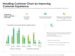 Handling Customer Churn By Improving Customer Experience Rate Reduce Sales Ppt Deck