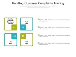 Handling Customer Complaints Training Ppt Powerpoint Presentation Layouts Example Cpb