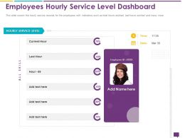 Handling Customer Queries Employees Hourly Service Level Dashboard Skill Ppts Ideas