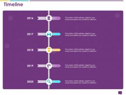 Handling Customer Queries Timeline 2016 To 2020 Years Editable Audience Ppts Ideas