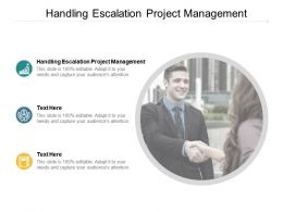 Handling Escalation Project Management Ppt Powerpoint Presentation Icon Background Cpb
