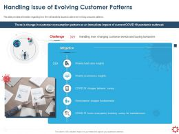 Handling Issue Of Evolving Customer Patterns Insights Ppt Styles Outfit