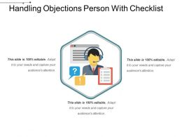 Handling Objections Person With Checklist