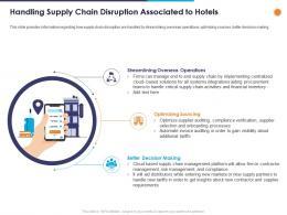Handling Supply Chain Disruption Associated To Hotels Ppt Powerpoint Presentation Portfolio