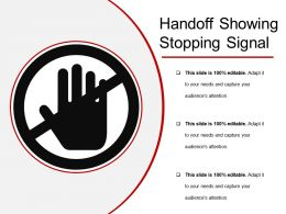Handoff Showing Stopping Signal